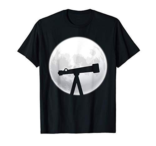 Astrologie Design Teleskop Fernglas Sternebeobachter Weltall T-Shirt