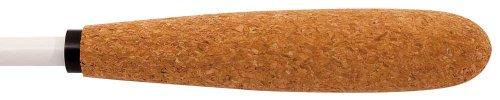 King David 12WTCK 12-Inch Baton White - Tapered Cork Handle