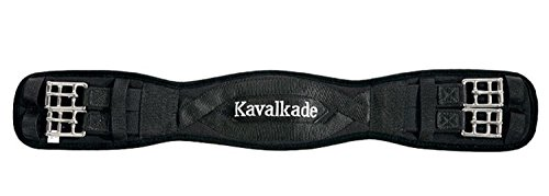 KAVALKADE Sattel-Kurzgurt Klimatex mit beidseitigem Elastik, schwarz, 80 cm