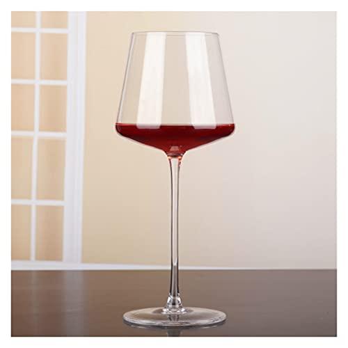 chenchen 400-500ml Simple High-End Vin: Copa de Vino Tinto sin Plomo Copa de Vidrio de Copa de Vino Taza de Vino Barra de Bebidas Barras de Restaurante Inicio Gafas (Color : Clear)