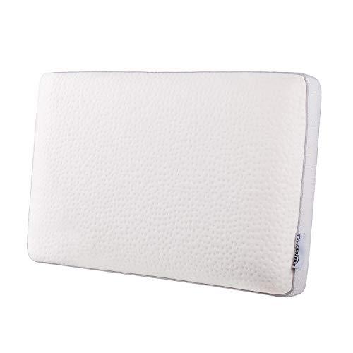 Amazon Basics - Almohada de espuma con memoria fresca, 60 x 40 x 12 cm
