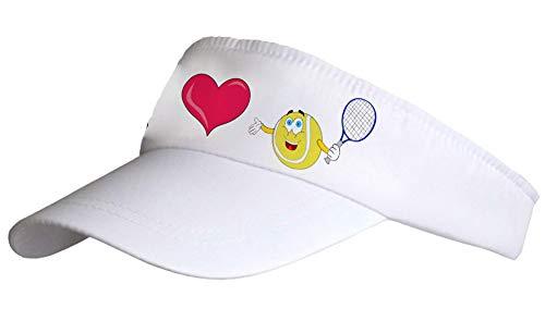Kdomania - Casquette Visière I Love Tennis
