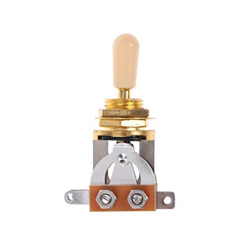 Healifty - Interruptor basculante para guitarra eléctrica de 3 vías, interruptor de selección de recogida con botón de oro para guitarra eléctrica Gibson Epiphone Les Paul LP