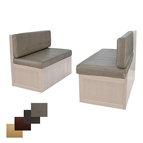 RecPro Charles RV Dinette Booth Cushions with Memory Foam Camper Trailer Bed (Putty, 36')