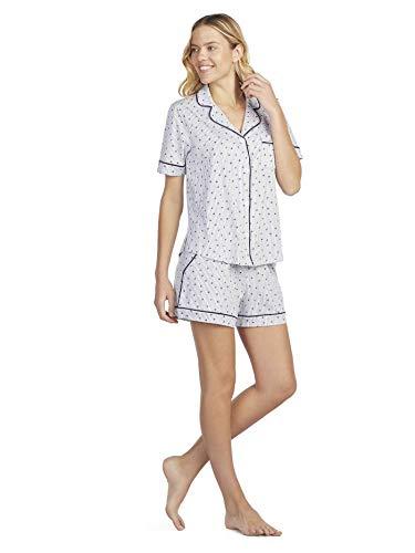 DKNY New Signature Kurz-Pyjama, geknöpft Damen
