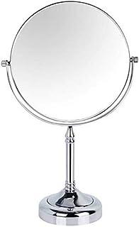 مرايا مكياج قائمة لمستحضرات التجميل، تكبير على الوجهين وتقليدي، 360 درجة من النحاس المقاوم للتجميل من الكروم، 15 سم، 3X