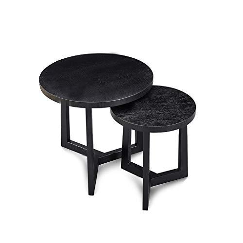 ZIJUAN Table Basse Table D'appoint Salon Salle À Manger Canapé-lit Table De Rangement d'angle - Chêne Noir (Taille : A+b)