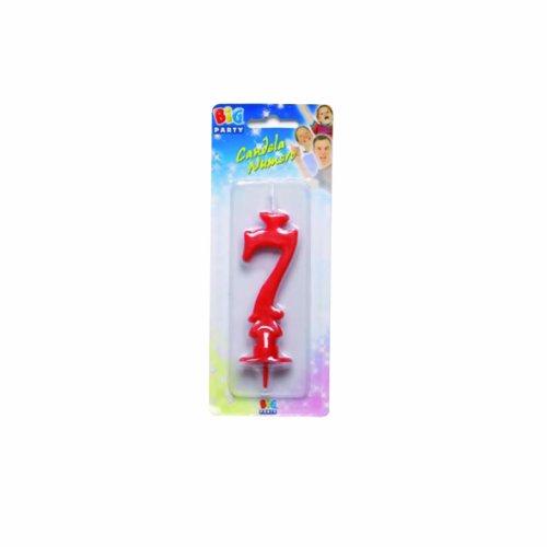 Candelina numéro 7 Rouge 9 cm environ
