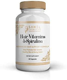 Sahel Cosmetics Traditional Chadian Beauty Secrets Hair Vitamins & Spirulina (60 caps)