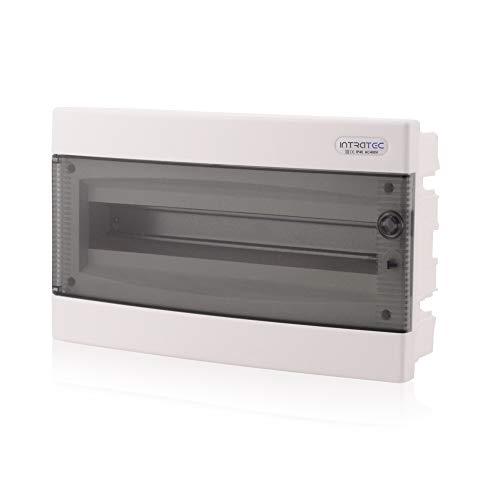 Zekeringkast inbouw IP40 verdeler behuizing 1-rij tot 18 modules transparante deur voor droogkamer installatie in huis