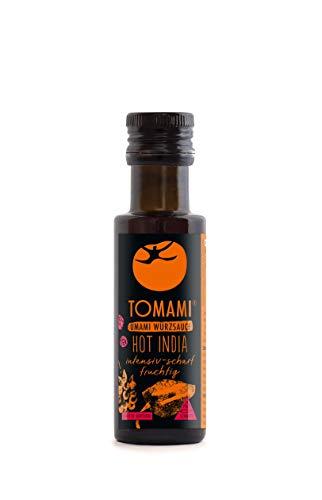 TOMAMI Hot India - 90 ml | Würzsauce | SCHARF-FRUCHTIG | vegan, glutenfrei, laktosefrei, sojafrei