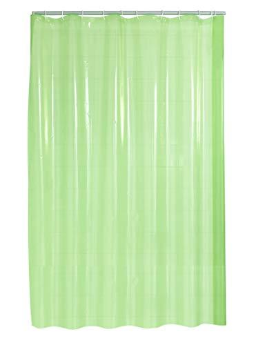 Ridder Brillant Folien-Duschvorhang, 100% PE, Transparent-grün, ca. 180x200 cm