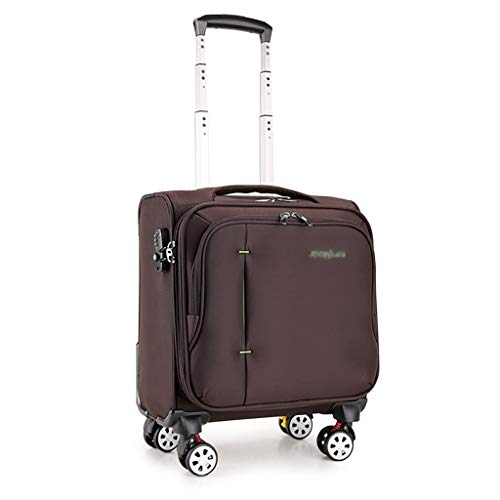 JF Carry-Ons Rolling Laptop case Executive Laptop Roller Cases Lightweight Briefcase with Padded Laptop Compartment Fits Laptops 8 Wheels