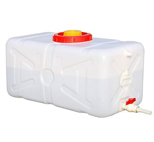 Cubo De Almacenamiento De Agua Para El Hogar Bidón Plástico Con Grifo Depósito De Agua Contenedor De Agua Almacenamiento De Agua De Plástico Grueso Cubo De Agua Rectangular Para Camping Senderismo Caz
