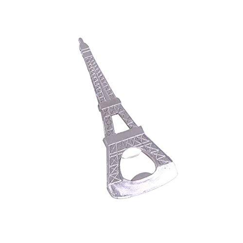 MoGist Flaschenöffner Stilvolle Silberne Pariser Turmform Metall Bierflaschenöffner Bier Kapselheber für Soda Cola Wasserflasche
