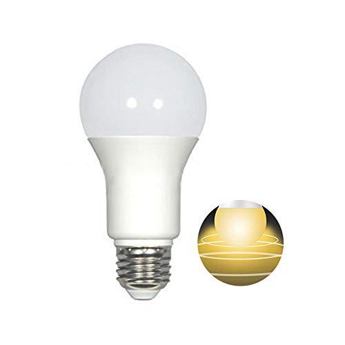 P12cheng Bombilla LED inteligente, bombilla LED, sensor de movimiento, 5/7 W, luz LED de radar inteligente, para interiores, escaleras, garajes, luz blanca cálida, 5 W