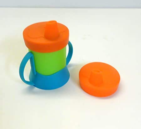 Tupperware Kinder Trinklerntasse 200 ml blau grün orange Schnabelbecher Baby+exra Silikondeckel