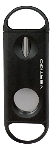 Vertigo by Lotus Duel - Cortador en V y guillotina para cigarros (56 anillos), color negro