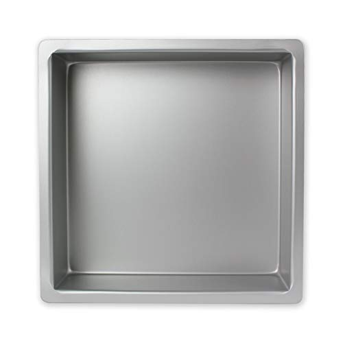 PME SQR113 Quadratische Kuchenform aus eloxiertem Aluminium, 279 x 279 x 76 mm, Silver, 28 x 28 x 7.5 cm