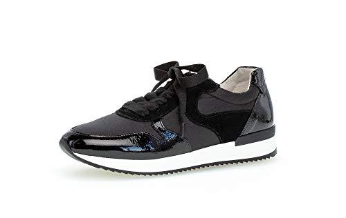Gabor Damen Halbschuhe, Frauen Sneaker,lose Einlage,Best Fitting,Women's,Woman,schnürschuhe,schnürer,Halbschuhe,keil,Sneaker,schwarz,38 EU / 5 UK