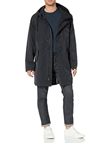 Vince Camuto Men's Hooded Weatherproof Anorak Jacket Coat, Navy, L
