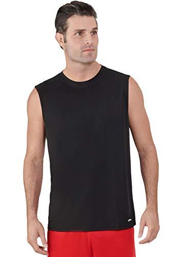 Russell Athletic Men's Dri-Power Performance Mesh Sleeveless Muscle, Black, XL