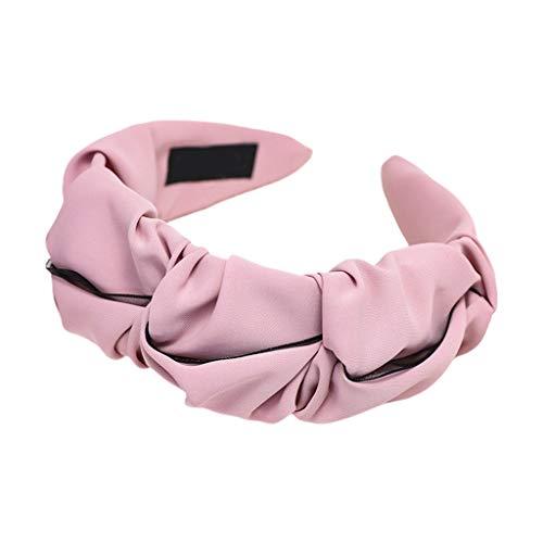 Ixkbiced Pañuelo de retales de Malla Arrugada con Pliegues y aro de Color Caramelo sólido Dulce para Mujer