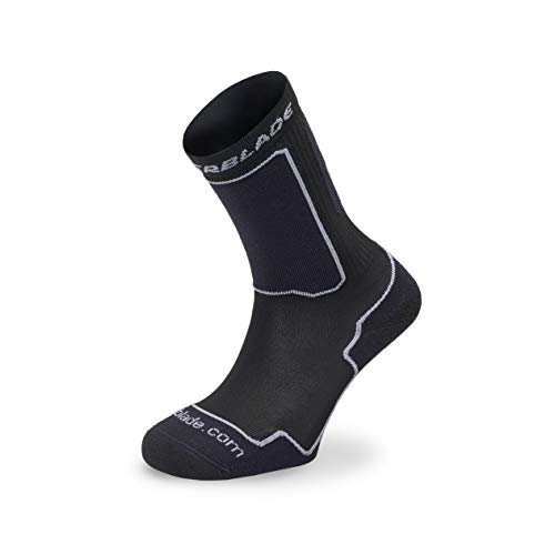 Rollerblade Performance, Skate, Unisex, Schwarz Silber, Inlineskate Multisport Socke, XL