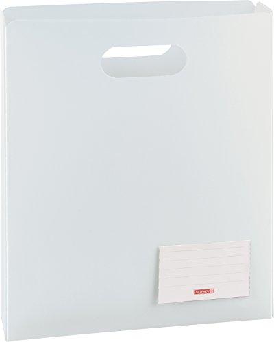 Brunnen 104163500 Heftbox FACT!pp (25 x 31 x 5 cm, aus transluzente PP-Folie für A4 Hefte und Schnellhefter, oben offen) weiß/arctic