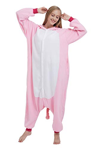 SAMGU Einhorn Adult Pyjama Cosplay Tier Onesie Body Nachtwäsche Kleid Overalll Animal Sleepwear Rosa - 2