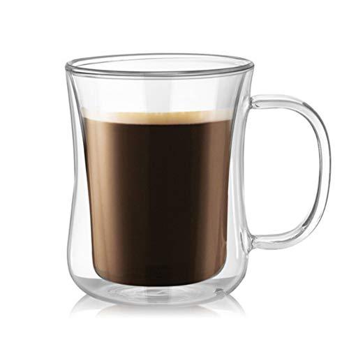 LCZ Doble Capa de la Taza de café, Copa Alta de Doble...