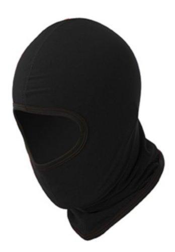 Miltec - Pasamontañas de 1 agujero (apto usar en exteriores, para policía, fuerzas especiales y también para airsoft, paintball, esquí, snowboard, surf y montaña), color negro
