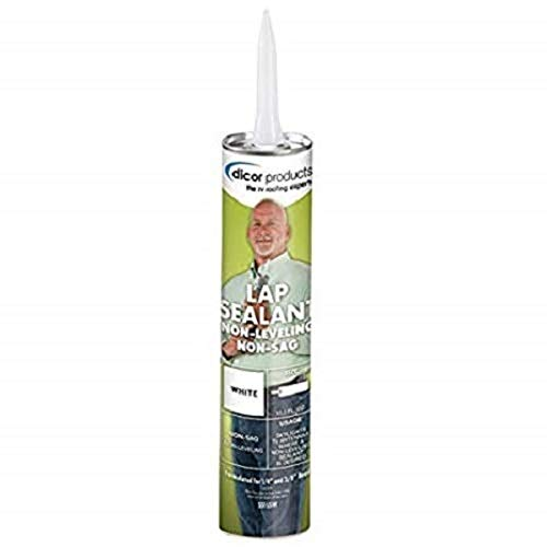 Dicor - 551LSW-12 White Non-Sag Roof Lap Sealant