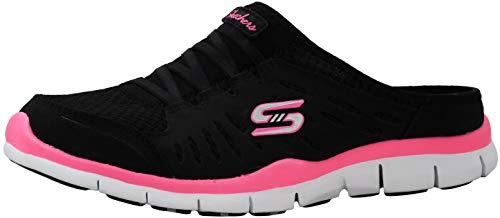 Skechers Gratis No Limits Womens Sneakers Clogs Black/White/Pink 6.5