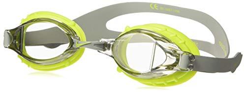 NIKE Kids' Big Youth Chrome Swim Goggle, Strata Grey, One Size