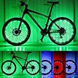 Luces para ruedas de bicicleta, de Pamase. Impermeable. Tira LED 20. Para radios y llantas de bicicleta. 2 paquetes, verde