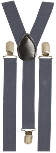 BRUBAKER bretelles unies, bleues - 24 mm