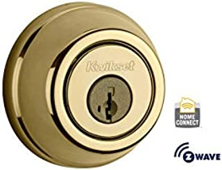 Kwikset 99100-004-R Z-Wave SmartCode Lifetime Polished Brass Single Cylinder Electronic Deadbolt Featuring SmartKey Security (Renewed)