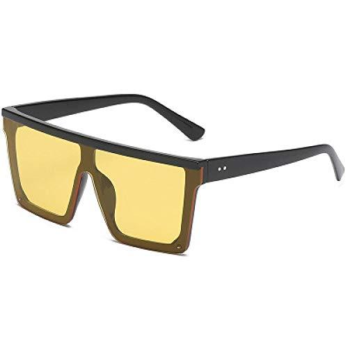 Sunglasses Gafas De Sol De Gran Tamaño con Parte Superior Plana para Mujer, Sin Montura, Gafas De Sol para Mujer, 2020, Marca De Lujo, Gafas De Sol Cuadradas Vintage, ESP