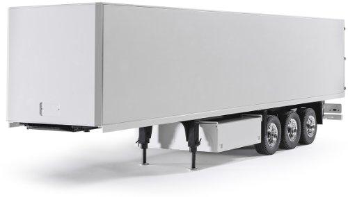 Carson 500907092 - Semirremolque de 3 ejes para camión en miniatura (escala 1:14), color blanco [importado de Alemania]