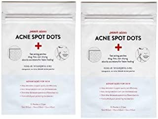 Peach Slices Acne Treatments! Your Choice Of Acne Spot Dots Or Sheet Masks! Shrink Pores! Clarify! Hydrate! Firm! Calm! Brighten! Great For All Skin! (Two Pack Of Peach Slices Acne Spot Dot)