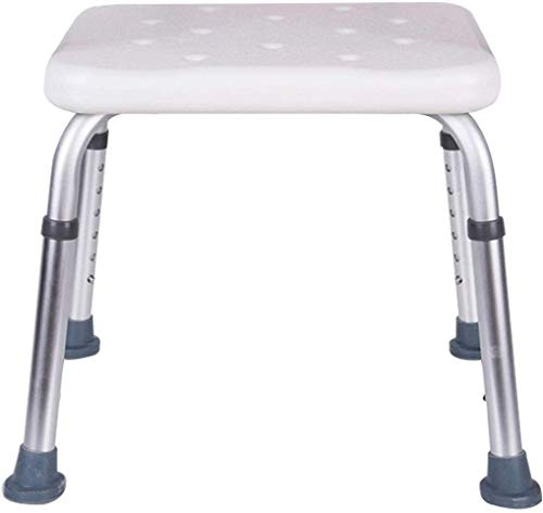 WYJW Badkruk voor senioren, lichte badkuipstoel, aluminiumlegering, in hoogte verstelbaar, antislip, met douchestang met zuignap voor stabiliteit