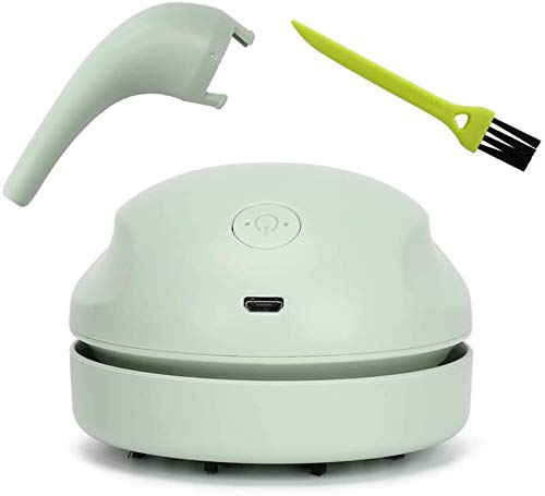 Fiunkes Mini-Desktop-Reiniger, USB-Wiederaufladbare Staubsauger-Handheld-Kabel-Staubsauger-Reiniger für PC-Tastatur Autositz Persönliche Kleidung Tischreinigungswerkzeug