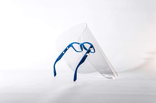 Gesichtsschutzschirm, Gesichtsschutz, Gesichtsmaske, Schutzmaske, Industriemaske, Augenschutz, Kunststoffmaske, Maske mit Brille, sterile Maske, 7 Farbe, hergestellt in der EU (5 Pack, Navy Blue)