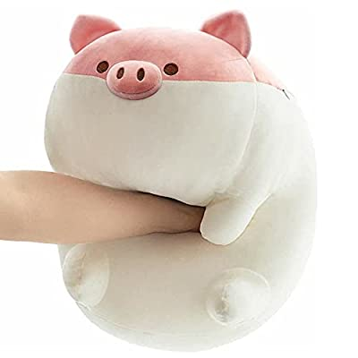 ARELUX Soft Fat Pig Plush Pillow,Soft Chubby Buddy Piggy Throw Hugging Pillow,Stuffed Animal Doll Toy Gifts for Bedding, Kids Birthday, Valentine, Christmas from ARELUX