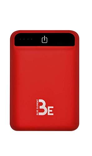 BlueElement – Batería portátil de 10.000 mAh – Smart PowerBank de Gran Capacidad – 2 Puertos USB Fast Charge – Revestimiento Soft Touch Red – Compacto y de Larga duración