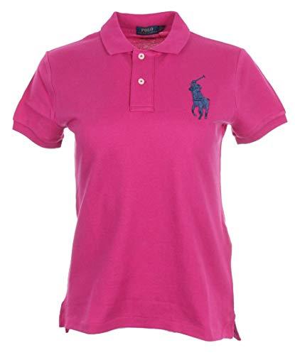 Ralph Lauren Damen Polo - Big Pony (Pink, L)