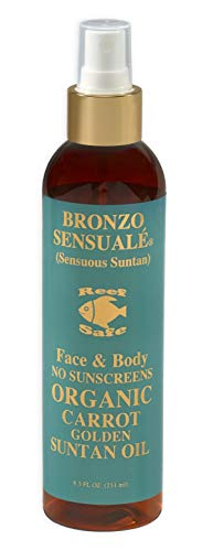 Bronzo Sensuale SPF 0 No Sunscreen Reef Safe Deep Intensive Golden Tanning Organic Carrot Oil 8.5 Ounces