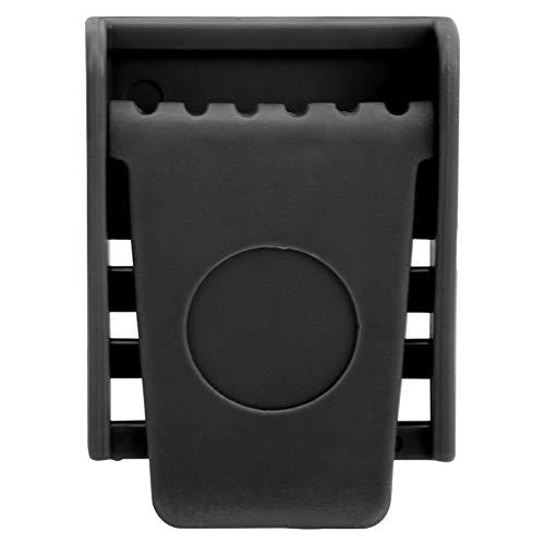 Faceuer Buceo Hebilla de cinturón de Cintura, Peso de Buceo Hebilla de cinturón de Peso Ligero, portátil, Resistente a corrosión con 3 Ranuras para bucear, esnórquel para Pesca y Buceo Libre(Black)