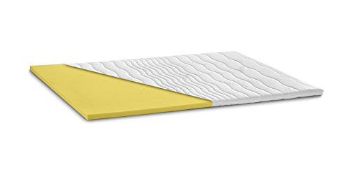 snoozo ViskoPUR | Visko-Schaum Topper Matratzenauflage | 7cm Gesamthöhe | Abnehmbarer und waschbarer Bezug | Memory Schaum | Raumgewicht RG50 | Classic-Bezug | 100 x 200 cm